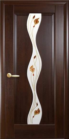 Міжкімнатні двері «Маестра» Р1 «Волна» Вітраж